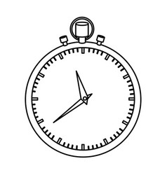 monochrome silhouette of simple stopwatch vector image