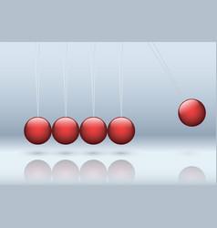 Newton cradle vector