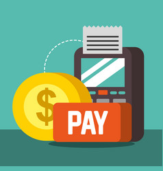 nfc payment technology vector image