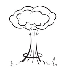 Nuclear explosion in a linear style danger vector