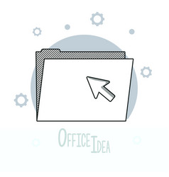 office ideas doodles vector image