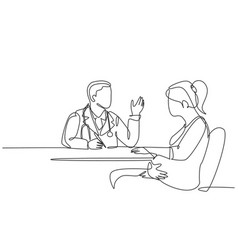 one single line drawing male obstetrics and vector image