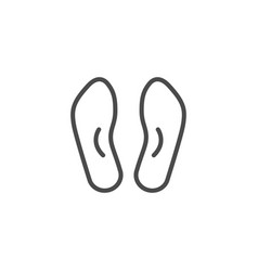 Orthopedic insoles line outline icon vector