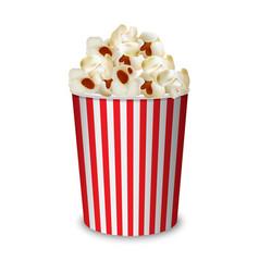 popcorn box mockup realistic style vector image
