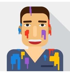 Portrait flat Holi festival vector image