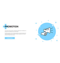 promotion icon banner outline template concept vector image