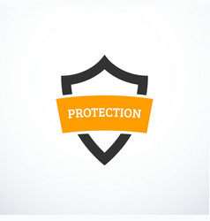 protection shield icon vector image