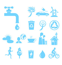 recycling agitation stop pollution water economy vector image