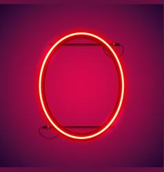 red neon ellipse frame vector image