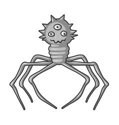Red virus icon in monochrome style isolated on vector