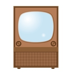 Retro TV screen vector