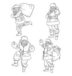 Santa claus line art 01 vector