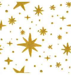 Seamless pattern stars vector
