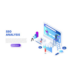Seo analyses and optimization design concept with vector