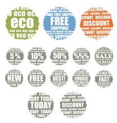 Shopping colorful labels collection vector image
