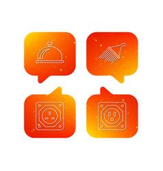 shower uk socket and usa socket icons vector image
