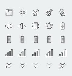 smartphone notification icon set vector image