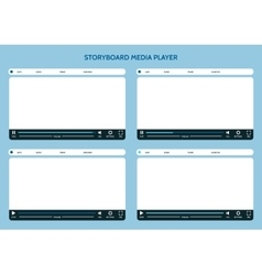 Storyboard media player vector