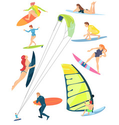 Summer sports of active modern young people vector