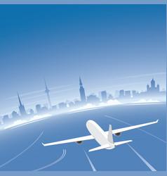 tallinn skyline flight destination vector image