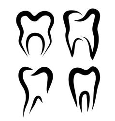 Teeth set symbols vector