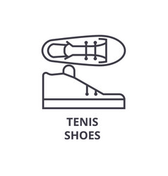 Tenis shoes line icon outline sign linear symbol vector
