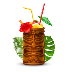 tiki cocktail vector image