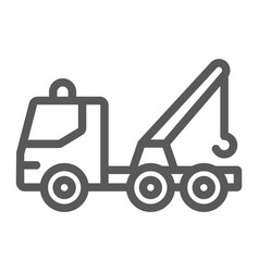 Tow truck line icon transport and service vector