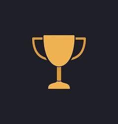 Trophy computer symbol vector image