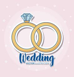 wedding icons design vector image