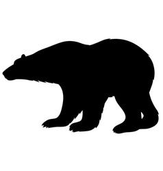 White bear silhouette vector
