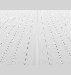 white wooden floor background in perspective vector image