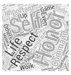 Coaching in life for honor word cloud concept vector