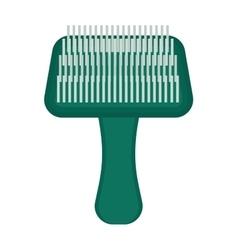 Pet brush grooming animal hair wool comb handle vector image vector image