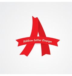 ribbon A letter vector image vector image