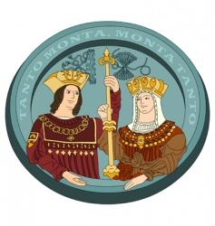 Isabella I and Ferdinand ii vector image vector image