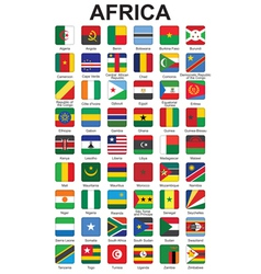 buttons with African countries flags vector image vector image