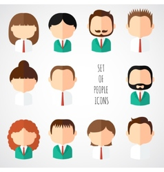 Set of colorful office people icons Businessman vector image
