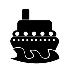 ship boat isolated icon vector image vector image