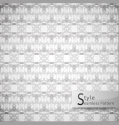 Abstract seamless pattern damask lattice bow vector