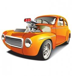 drag car vector image vector image