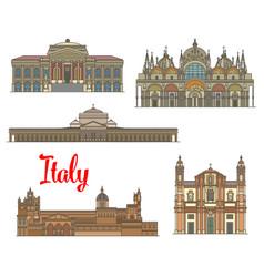 italian travel landmarks of arts and religion vector image vector image