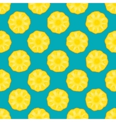 pineapple seamless pattern blue background vector image vector image