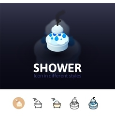 Shower icon in different style vector image