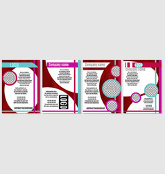 A selection of red brochures for advertising vector