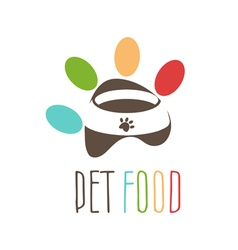 Abstract logo for pets theme Pets bowl in the vector image