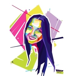 abstract portrait young woman style vector image