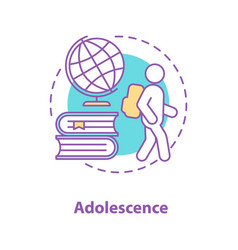 Adolescence concept icon vector