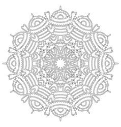 adult coloring book floral abstract mandala vector image