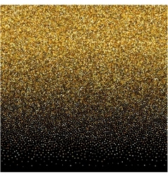 Background with gold gradient texture on black vector